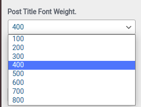 Post Title Font Weight