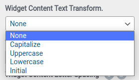 widget content text transform