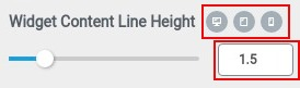 widget content line height responsive
