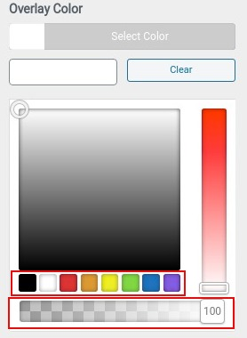 choose overlay color