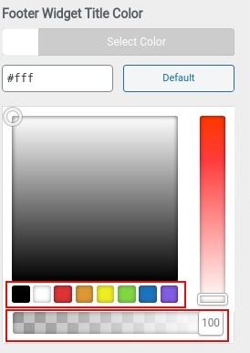 choose footer widget title color