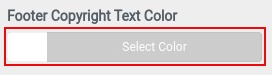 select footer copyright text color
