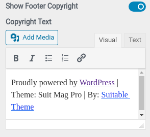 Footer Copyright