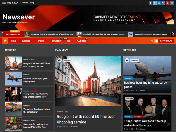 newsever WordPress theme