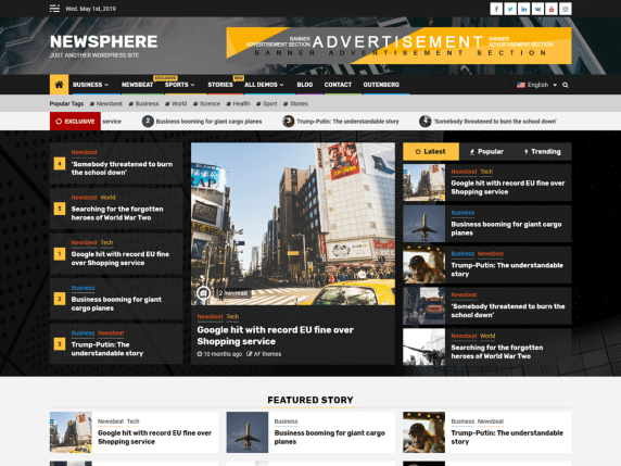 newsphere wordpress theme